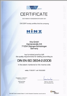 Certificate ISO 9001 2008